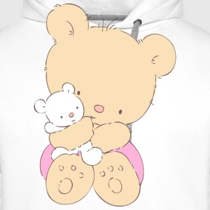 Bear hugging toy Teddy bear  Aprons - Men's Premium Hoodie