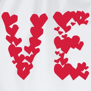 LOVE couple pair partner Heart Valentines Day gift T-Shirts - Drawstring Bag