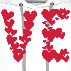 LOVE couple pair partner Heart Valentines Day gift T-Shirts - Men's Premium Hoodie