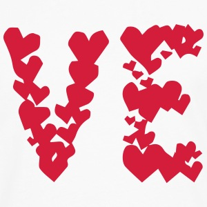 LOVE couple pair partner Heart Valentines Day gift Camisetas - Camiseta de manga larga premium hombre