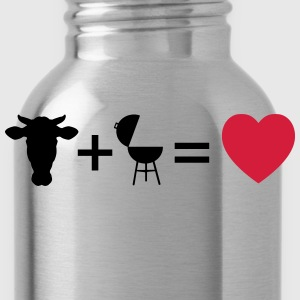 beef & bbq = love  Aprons - Water Bottle