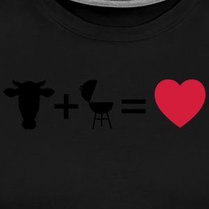 beef & bbq = love  Aprons - Men's Premium T-Shirt