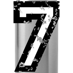 The Number Seven - No. 7 (two-color) white T-Shirts - Water Bottle
