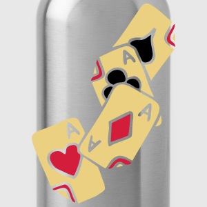 Poker Cards Game Ace Heart Spade Cross Caro Tattoo T-shirts - Vattenflaska