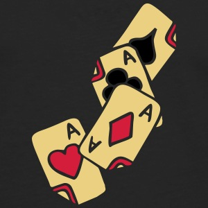 Poker Cards Game Ace Heart Spade Cross Caro Tattoo T-shirts - Långärmad premium-T-shirt herr