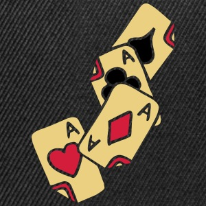 Poker Cards Game Ace Heart Spade Cross Caro Tattoo T-shirts - Snapback cap