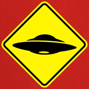 ufo road sign Shirts - Cooking Apron