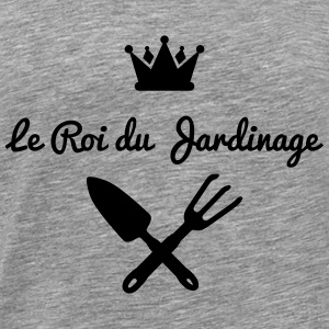 roi jardinage version 1 Tee shirts manches longues - T-shirt Premium Homme