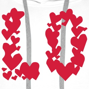 LOVE couple pair partner Heart Valentines Day gift T-shirts - Mannen Premium hoodie