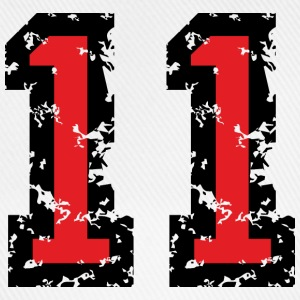 The Number Eleven - No. 11 (two-color) red T-Shirts - Baseball Cap