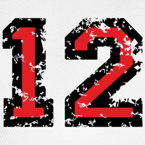 The Number Twelve - No. 12 (two-color) red T-Shirts - Baseball Cap