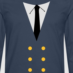 suit pilot T-Shirts - Men's Premium Longsleeve Shirt