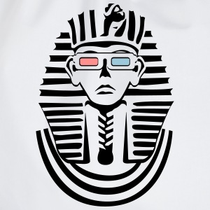 Pharaoh in black and white with 3D glasses  T-Shirts - Drawstring Bag