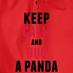 Keep calm and hug a panda T-Shirts - Turnbeutel