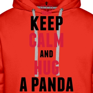 Keep calm and hug a panda T-Shirts - Männer Premium Hoodie
