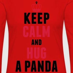 Keep calm and hug a panda T-Shirts - Frauen Premium Langarmshirt