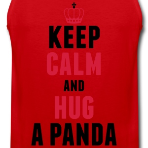 Keep calm and hug a panda T-Shirts - Männer Premium Tank Top