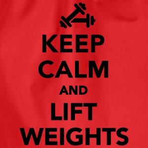 Keep calm and lift weights T-Shirts - Turnbeutel