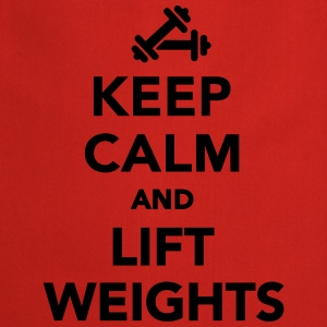 Keep calm and lift weights T-Shirts - Kochschürze