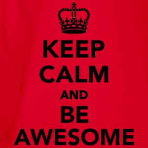 Keep calm and be awesome T-Shirts - Baby Bio-Kurzarm-Body