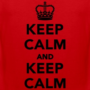 Keep calm and keep calm T-Shirts - Männer Premium Tank Top