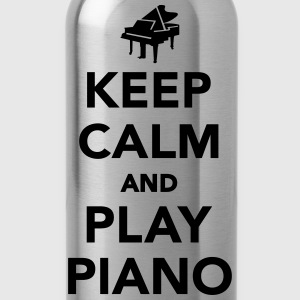 Keep calm and play piano T-Shirts - Trinkflasche