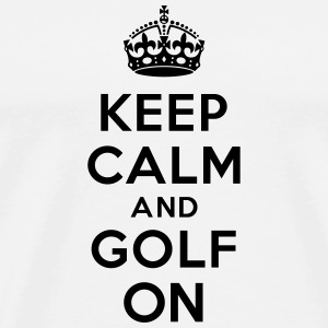 Keep calm and golf on crown Bouteilles et tasses - T-shirt Premium Homme