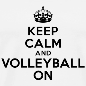 Keep calm and volleyball on crown Bouteilles et tasses - T-shirt Premium Homme