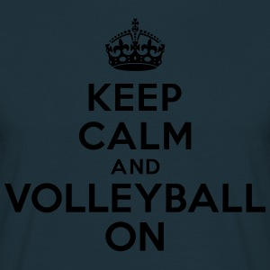 Keep calm and volleyball on crown Sweat-shirts - T-shirt Homme