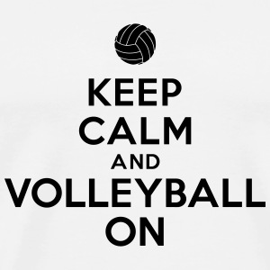 Keep calm and volleyball on Bouteilles et tasses - T-shirt Premium Homme