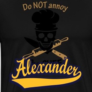 Alexander - The name as a sport swash  Aprons - Men's Premium T-Shirt