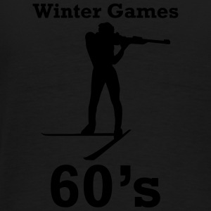winter games 60s biathlon Sweat-shirts - T-shirt Premium Homme