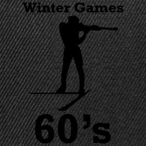 winter games 60s biathlon Sweat-shirts - Casquette snapback