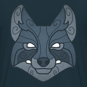 Tribal wolf mask - Men's T-Shirt