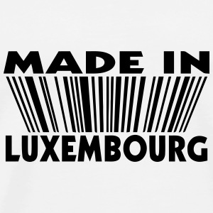 Made in  Luxembourg 3D code Buttons - Men's Premium T-Shirt