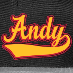 Andy - Name as a sport swash. T-Shirts - Snapback Cap
