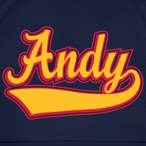 Andy - Name as a sport swash. T-Shirts - Baseball Cap