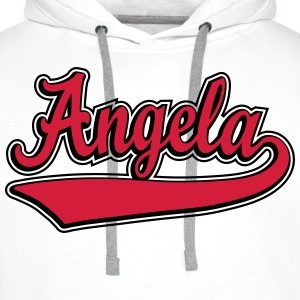 Angela - Name as a sport swash. T-Shirts - Men's Premium Hoodie