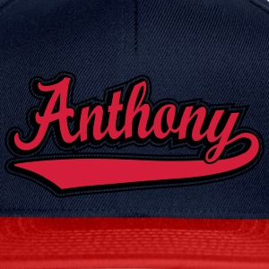 Anthony - Name as a sport swash. Shirts - Snapback Cap