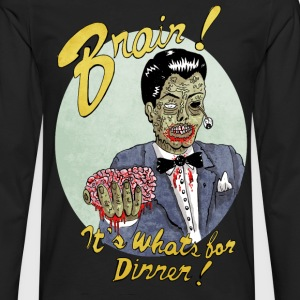 Brain for dinner - T-shirt manches longues Premium Homme