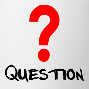 Question Red T-shirts - Mugg