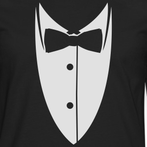 Collar with bow tie made ​​suit jacket  T-Shirts - Men's Premium Longsleeve Shirt