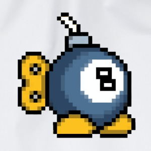 8bit 8ball Bomb Pillow - Drawstring Bag