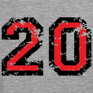 The Number Twenty - No. 20 (two-color) red T-Shirts - Men's Premium Longsleeve Shirt