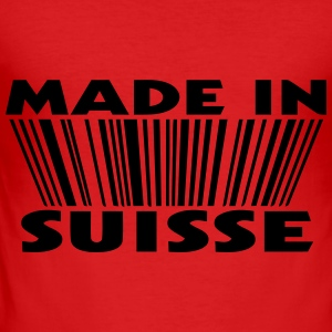 Made in suisse 3D code Tee shirts manches longues - Tee shirt près du corps Homme