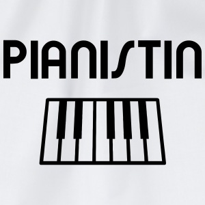 Pianist with piano keyboard Tee shirts - Sac de sport léger