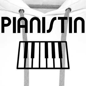 Pianist with piano keyboard T-Shirts - Men's Premium Hoodie