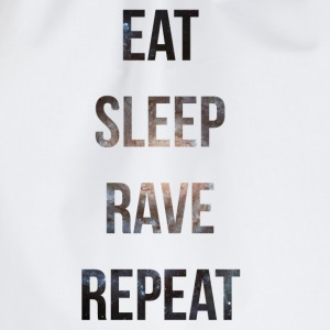 eat sleep rave repeat stars T-Shirts - Turnbeutel