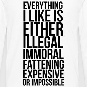 everything i like T-shirts - Långärmad premium-T-shirt herr