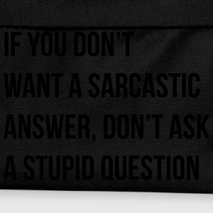sarcastic comment T-Shirts - Kids' Backpack
